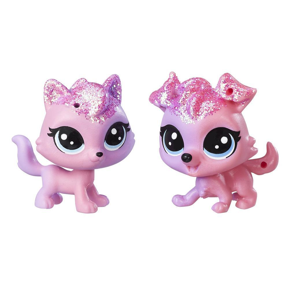 Littlest Pet Shop Collie Dazzlepink & Viola Twinkledust