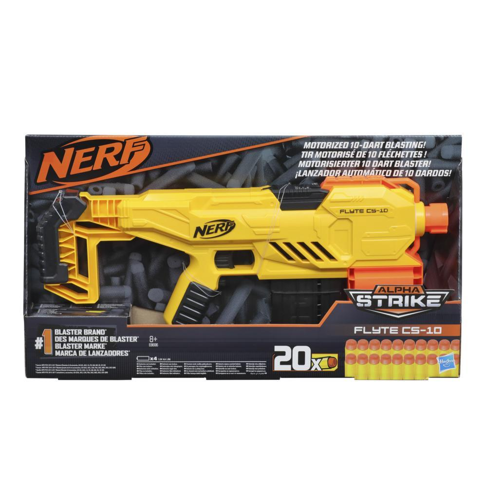 Nerf Alpha Strike Flyte CS-10 Motorized 10-Dart Blaster – 20 Official Nerf Elite Darts Darts -- For Kids, Teens, Adults