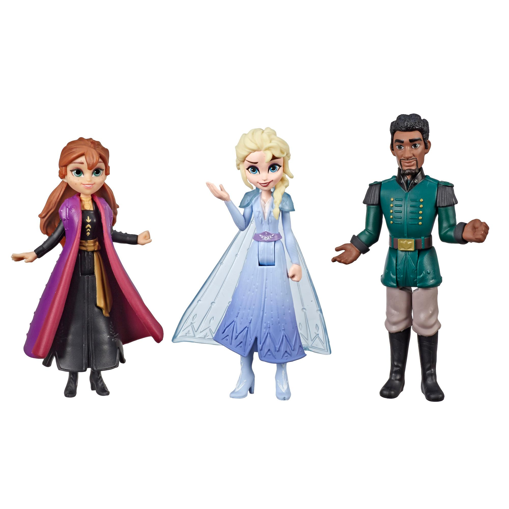 Disney Frozen Anna, Elsa, and Mattias Small Dolls 3-Pack Inspired by the Disney Frozen 2 Movie