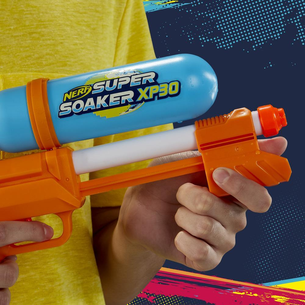Nerf Super Soaker XP30 -vesiblasteri – Ilmanpaineella toimiva jatkuva ruiskutus – Irrotettava säiliö – Lapsille, teineille ja aikuisille
