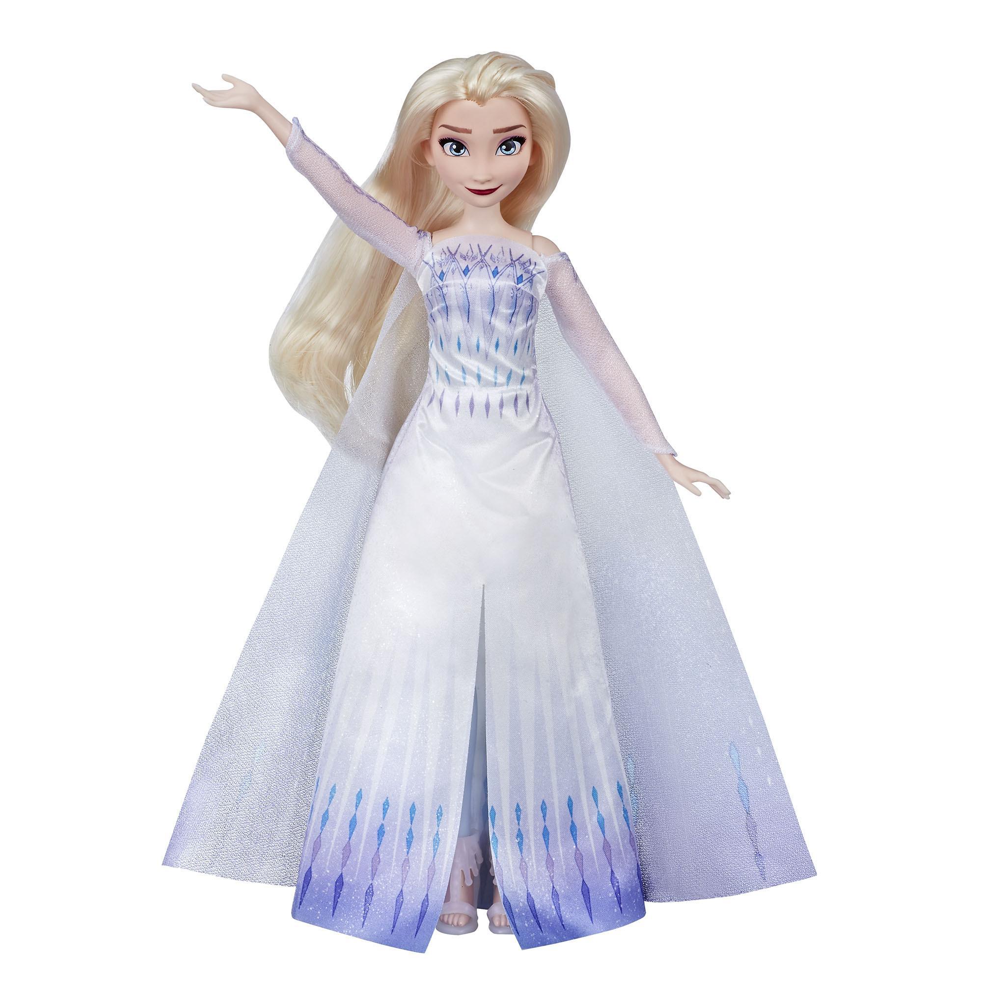 "Laulava Disney Frozen Musical Adventure Elsa -nukke, laulaa Frozen 2 -elokuvan ""Show Yourself"" -kappaleen"