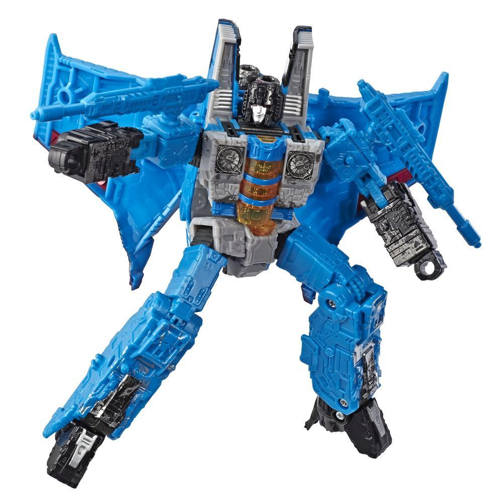 Transformers Toys Generations War for Cybertron Voyager WFC-S39 Thundercracker Action Figure - Siege Chapter - Adults and Kids Ages 8 and Up, 7-inch