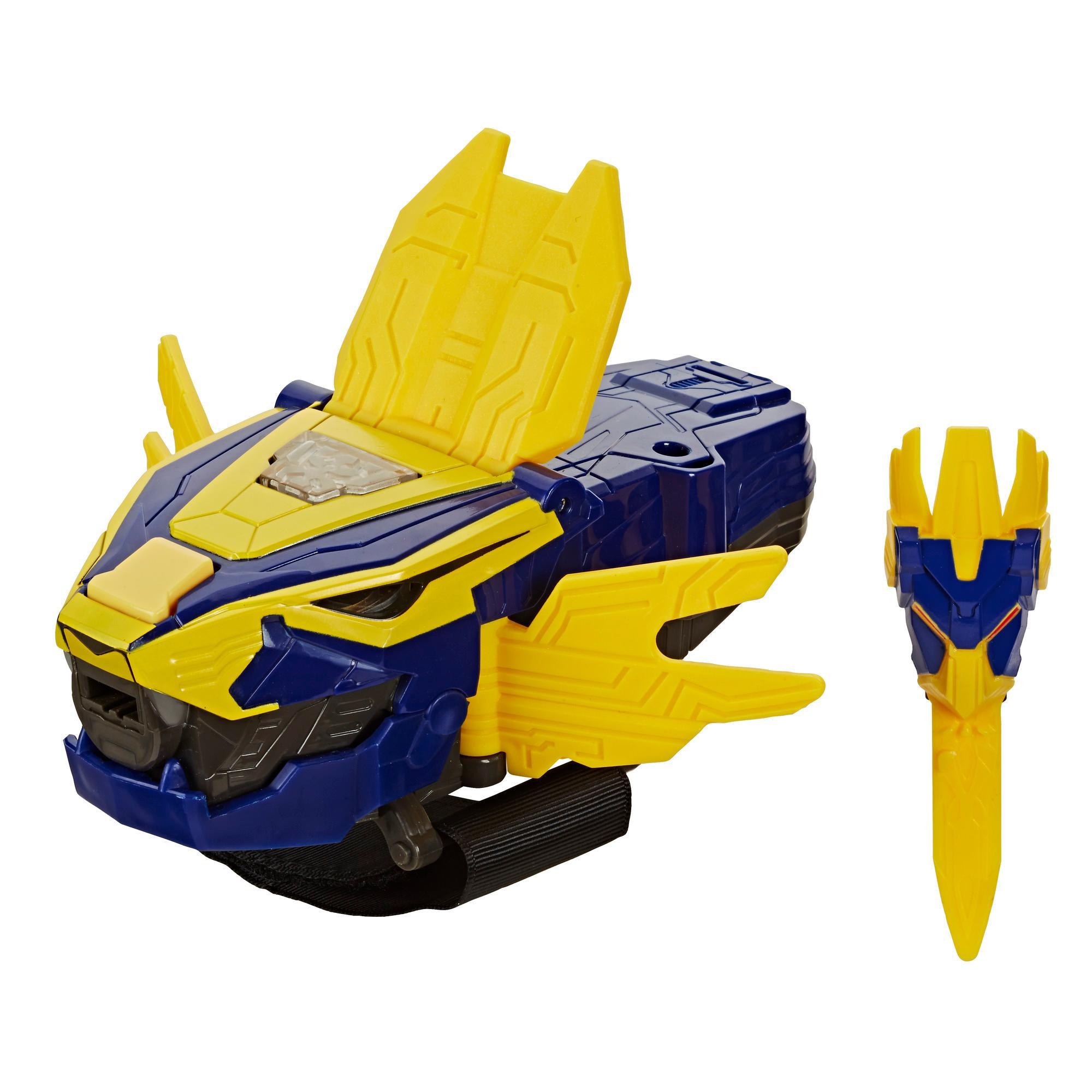 Elektroninen Power Rangers Beast Morphers Beast-X King Morpher -roolileikkilelu, Liikkeisiin reagoivia valoja ja 20+ ääntä