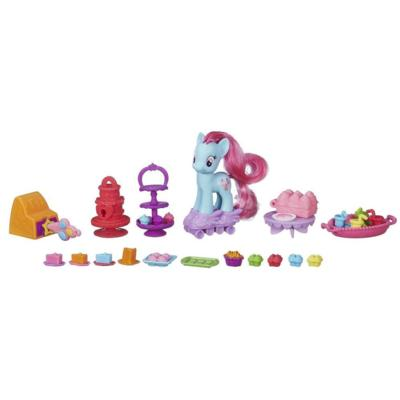 My Little Pony Sweet Rainbow Bakery Playset With Mrs. Dazzle Cake Figure