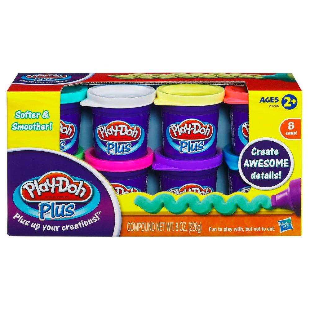 8 pots Play-doh plus