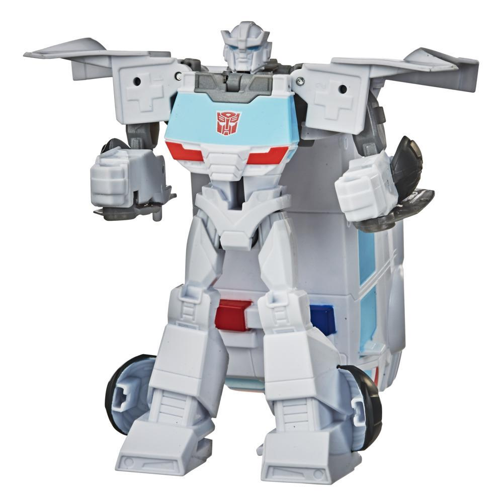 Transformers Bumblebee Cyberverse, figurine Action Attackers Autobot Ratchet à conversion 1 étape, avec attaque, 10,5 cm