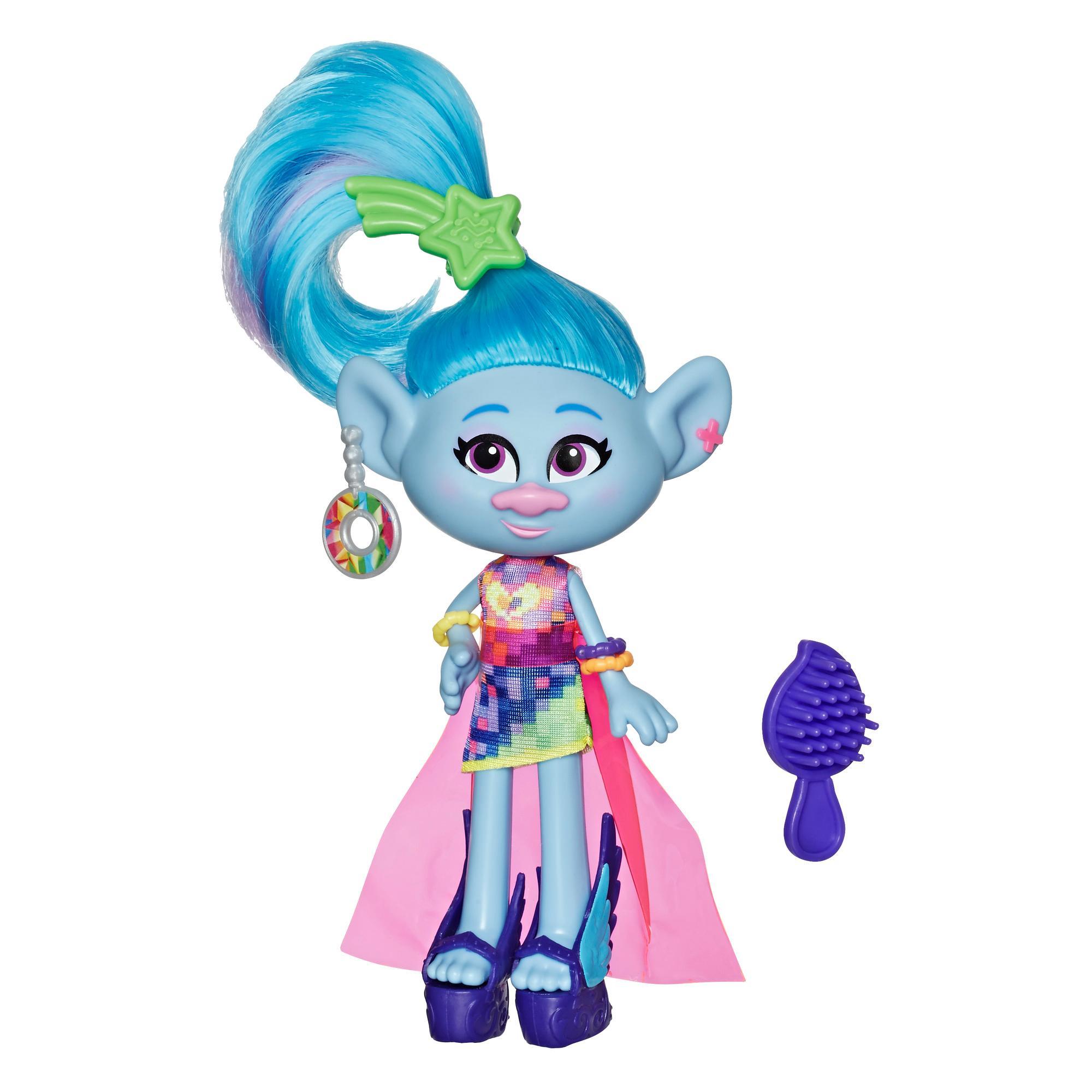 Les Trolls de DreamWorks - Poupée Mannequin Mode Deluxe  Chenille avec robe et plus, du film Trolls 2 : Tournée mondiale, enfants