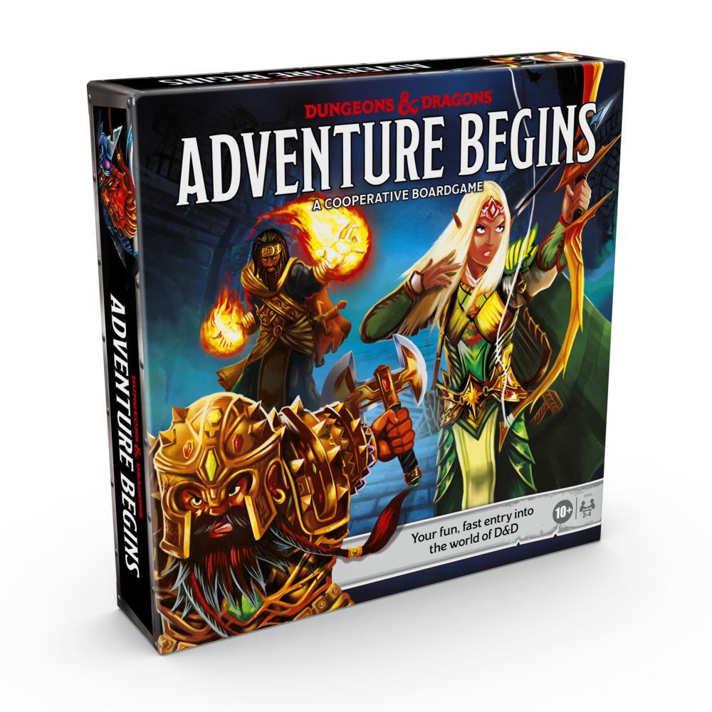 Dungeons & Dragons Adventure Begins, jeu de plateau coopératif fantastique, initiation rapide au monde de D&D, jeu familial, dès 10ans