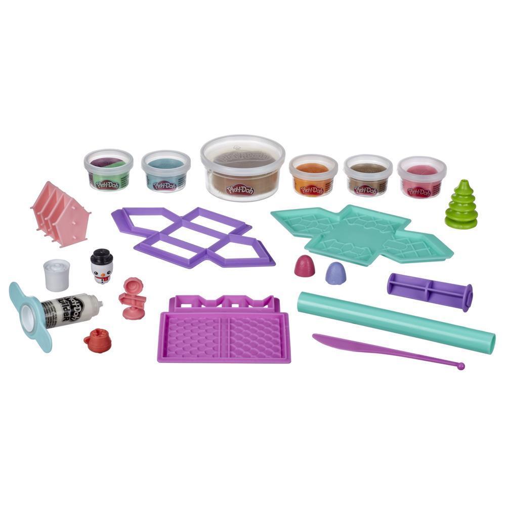 Play-Doh Builder, Maison en pain d'épice avec 6couleurs Play-Doh atoxiques, pour enfants, à partir de 5ans