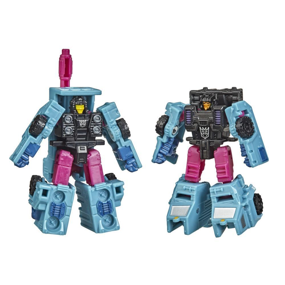 Transformers Generations War for Cybertron : Earthrise, 2 Micromasters Escouade Decepticon WFC-E40, 3,5 cm