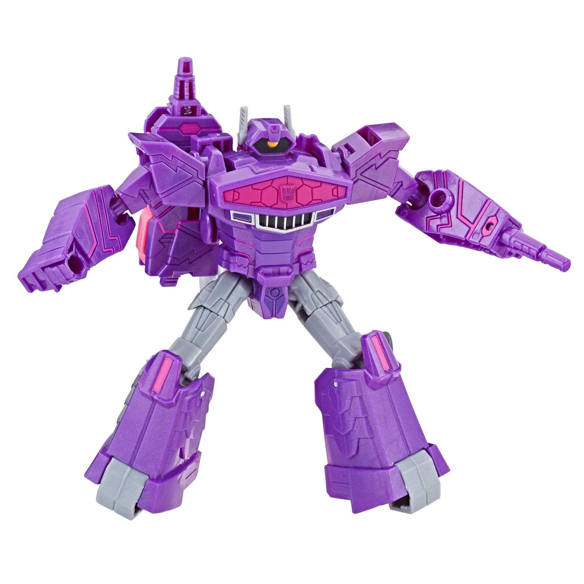Transformers Bumblebee Cyberverse Adventures, figurine Shockwave Action Attackers de 13,7 cm, classe Guerrier