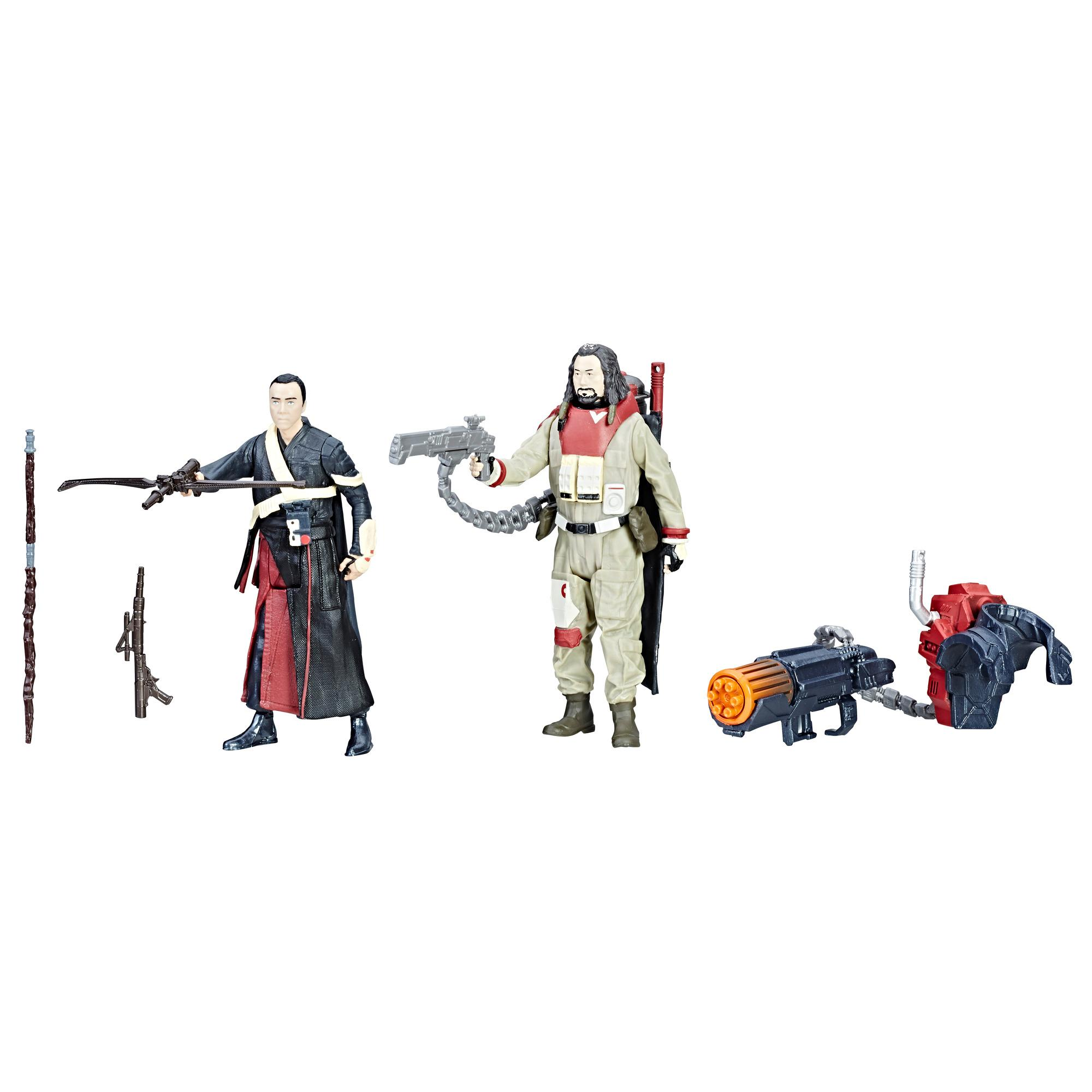 Star Wars - Duo de figurines Chirrut Imwe et Baze Malbus avec Force Link