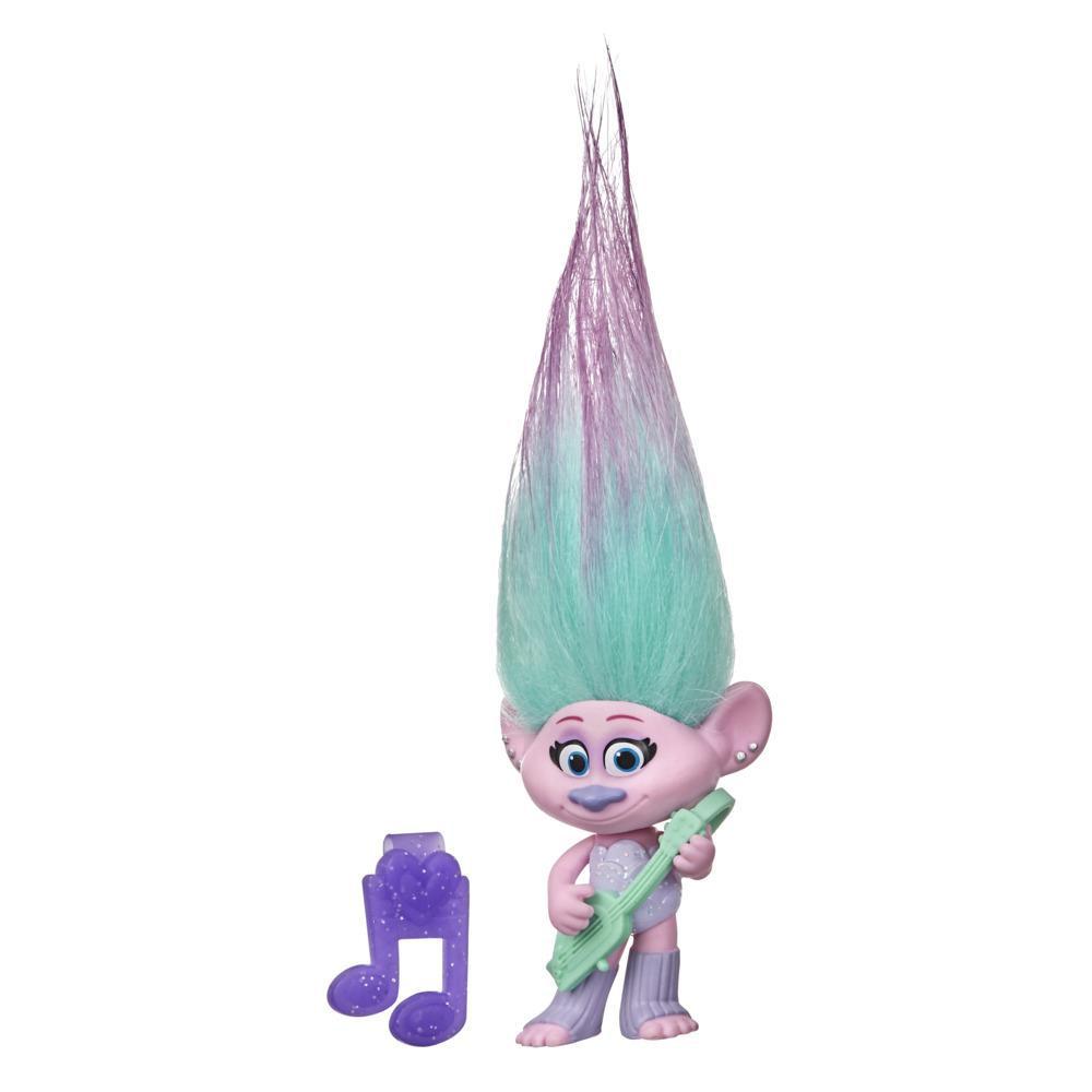 DreamWorks, Les Trolls 2 : Tournée mondiale, figurine Satin avec guitare, inspirée du film Trolls 2 : Tournée mondiale