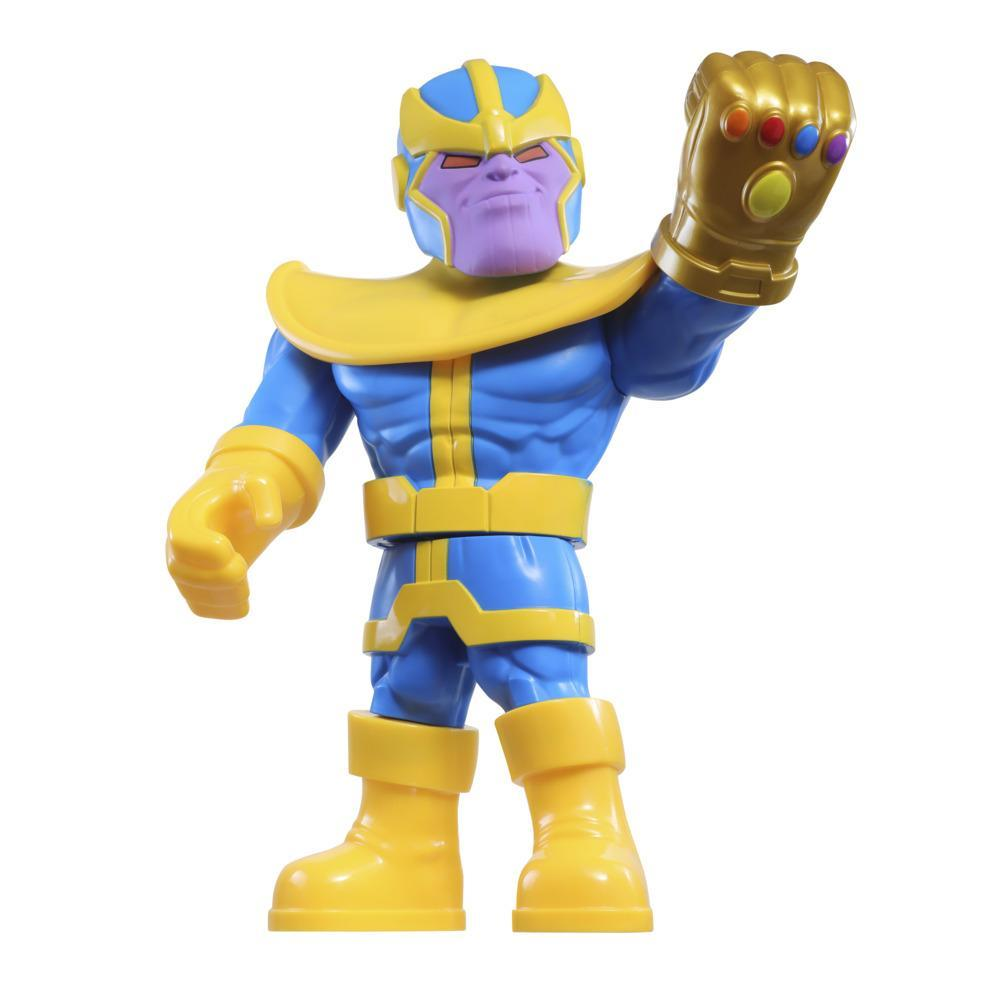 Playskool Heroes Marvel Super Hero Adventures Mega Mighties, Figurine Thanos de 25 cm, enfants à partir de 3 ans