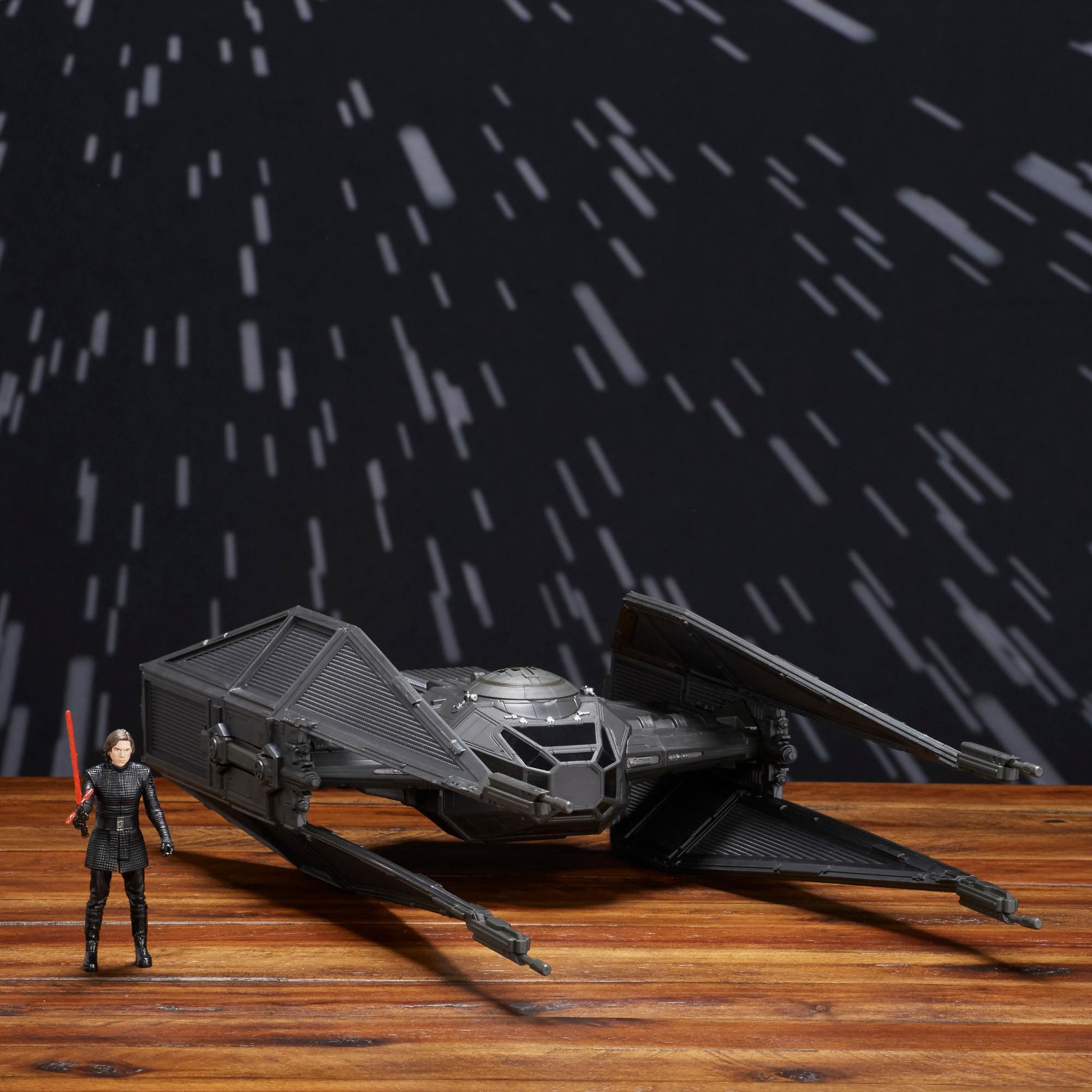 Star Wars Force Link - TIE Silencer de Kylo Ren & figurine Kylo Ren (pilote TIE)