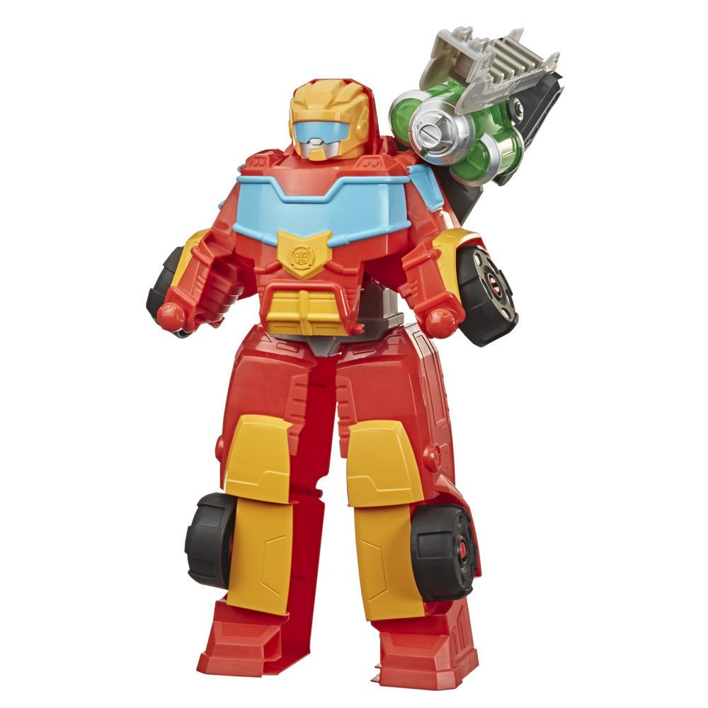 Transformers Rescue Bots Academy, robot convertible Rescue Power Hot Shot, 35 cm, à collectionner, enfants, dès 3 ans