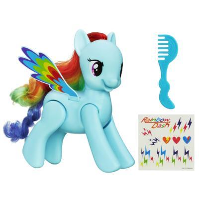 Rainbow Dash saute et vole