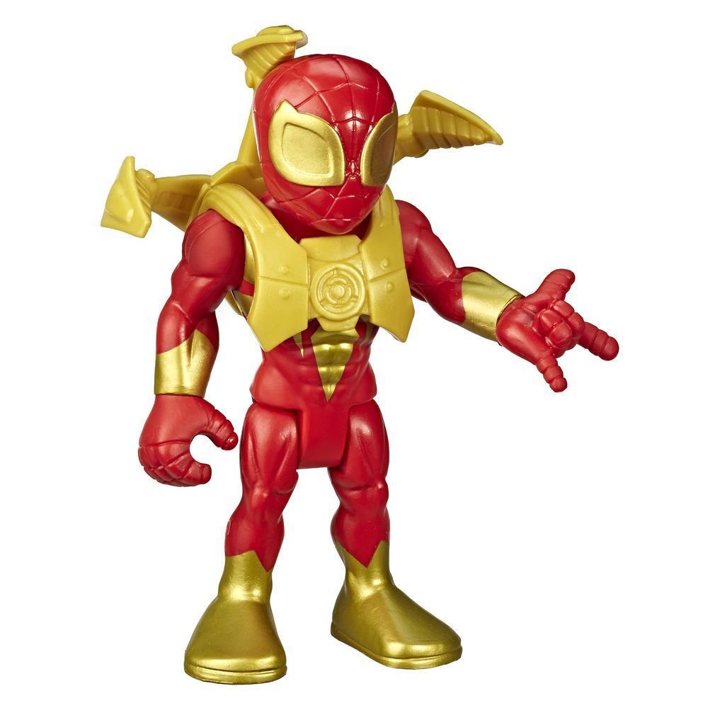 Playskool Heroes Marvel Super Hero Adventures Mega Mighties - Figurine Iron Spider de 12,5 cm avec bras d'araignée, jouets pour enfants à partir de 3 ans