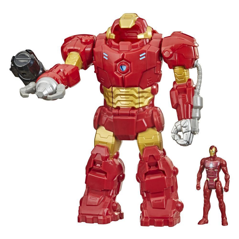 Hasbro Marvel Avengers Heroes, Armure mécanique Stark, figurine de 9,5 cm et armure mécanique de 25 cm, enfants dès 4 ans