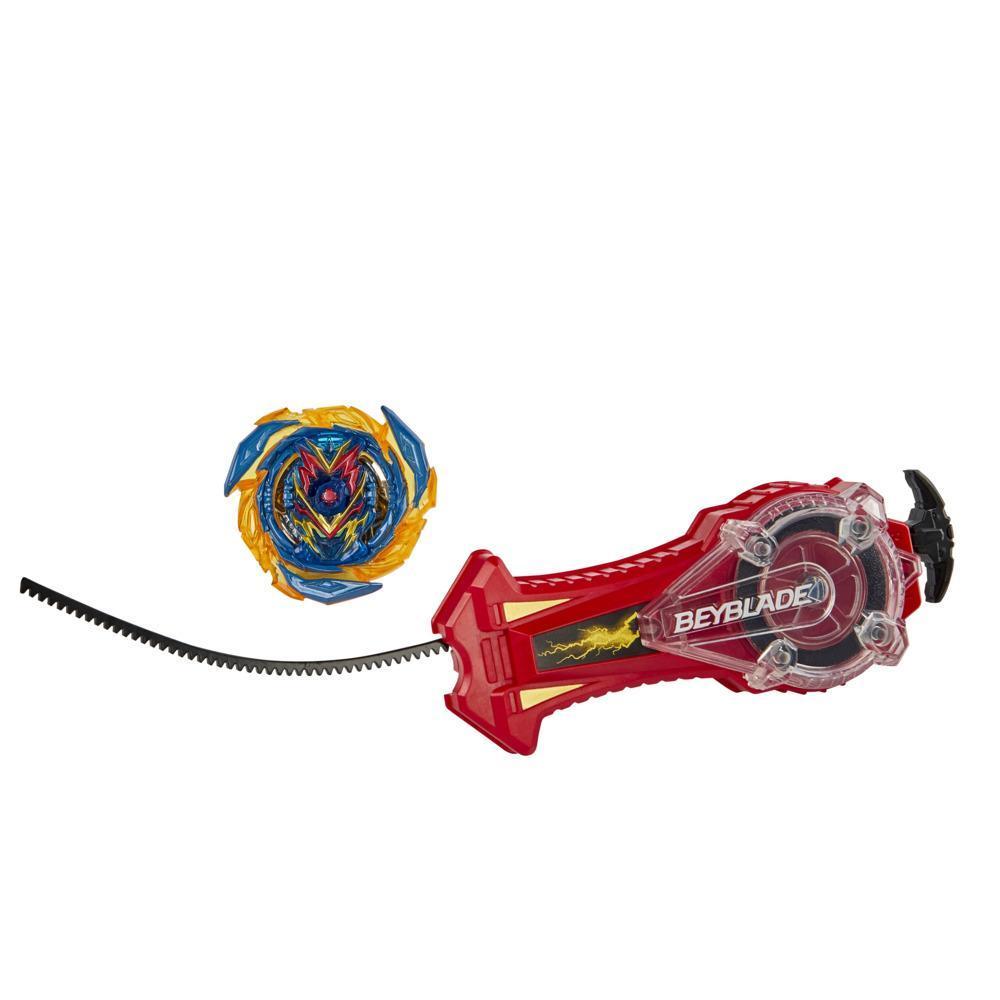 Beyblade Burst Surge Speedstorm, Lanceur Puissance étincelante, lanceur à étincelles et toupie à rotation droite
