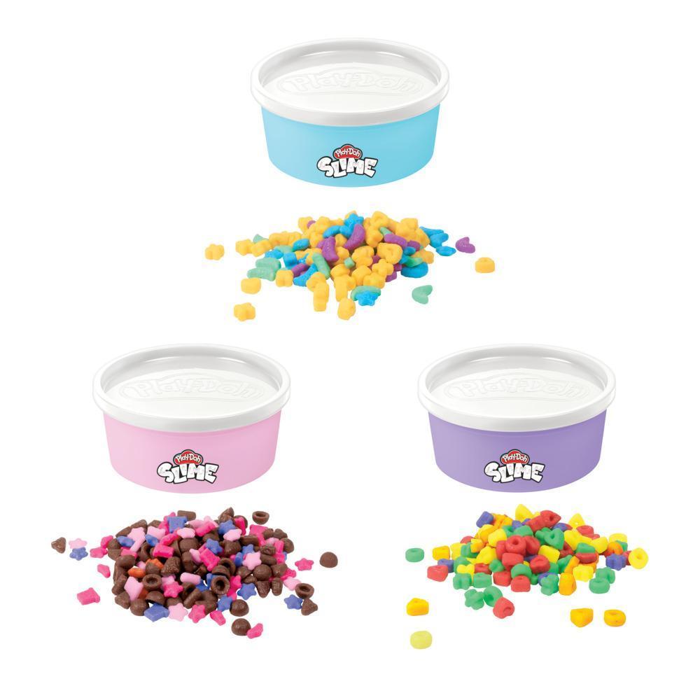 Play-Doh Slime, thème céréales, 3 variétés, pâte atoxique Play-Doh Slime couleur lait avec céréales, 127grammes