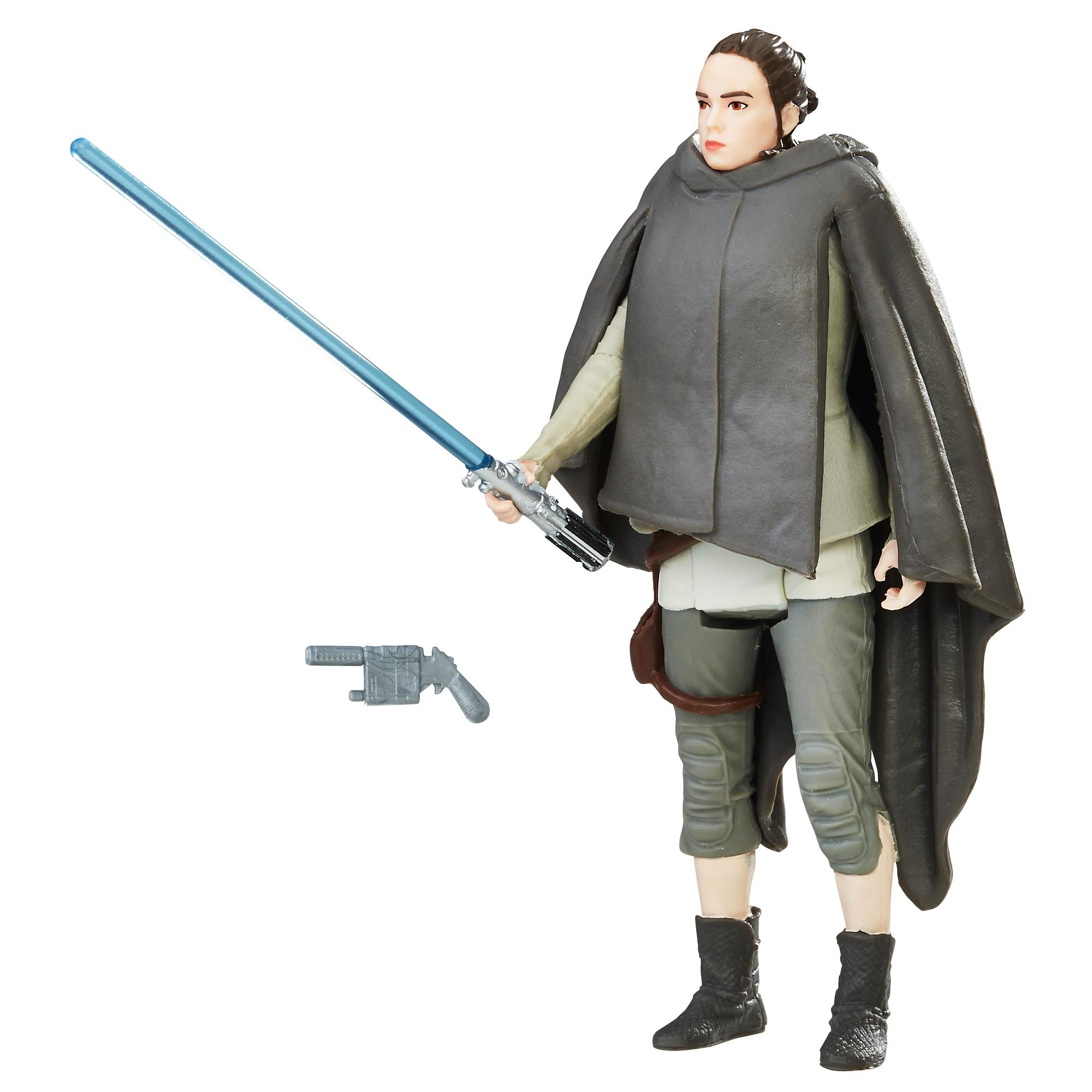 Star Wars - Figurine Rey (Excursion sur l'île) avec Force Link