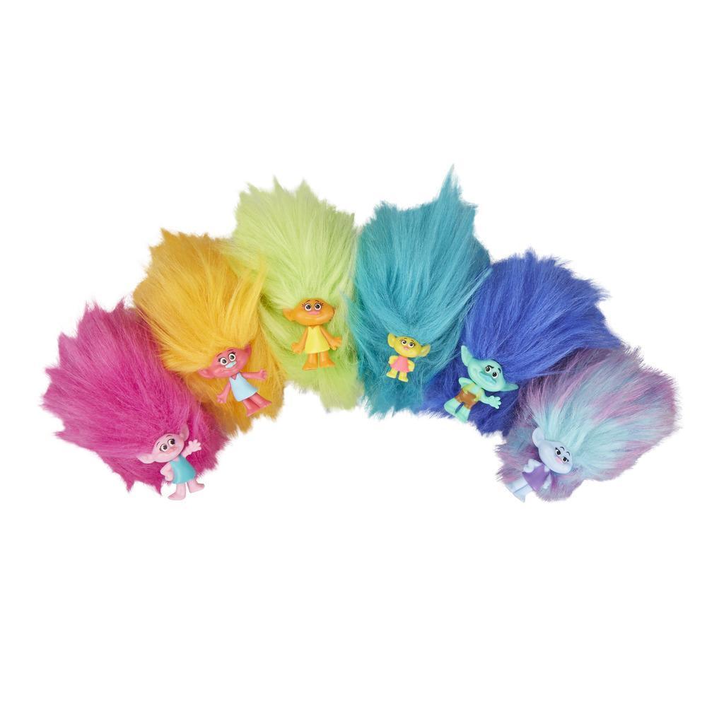 Trolls de DreamWorks, Câlins touffus série 3, surprises à collectionner, 6personnages différents à collectionner, pour enfants, à partir de 4ans