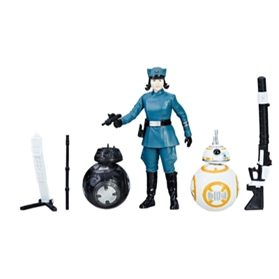 Star Wars - Ensemble Force Link Rose (En officier du Premier Ordre), BB-8, BB-9E
