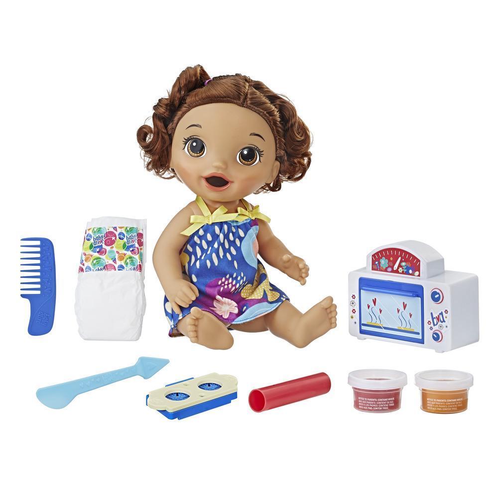 Baby Alive - Bébé Grignotines (cheveux bruns bouclés)