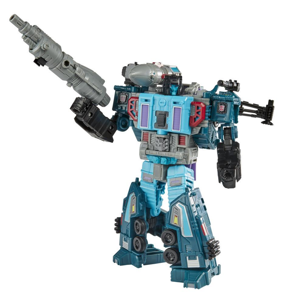 Transformers Generations War for Cybertron : Earthrise WFC-E23 Doubledealer de 17,5 cm, classe Leader, triple conversion