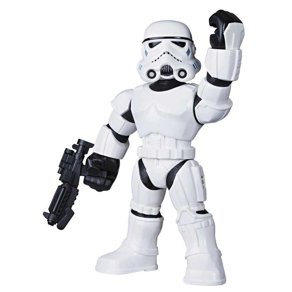Star Wars Galactic Heroes Mega Mighties, figurine Stormtrooper de 25 cm et accessoire, pour enfants, à partir de 3 ans