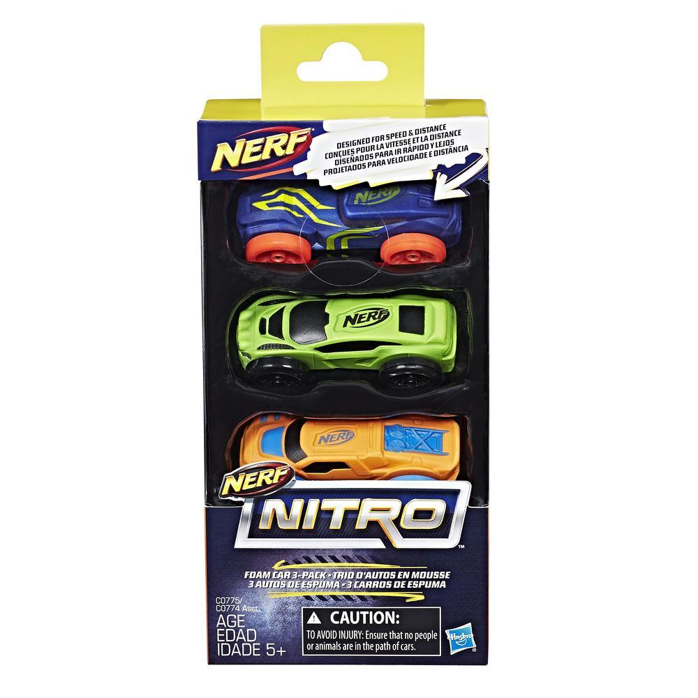 Nerf Nitro : Trio d'autos en mousse (ensemble 1)