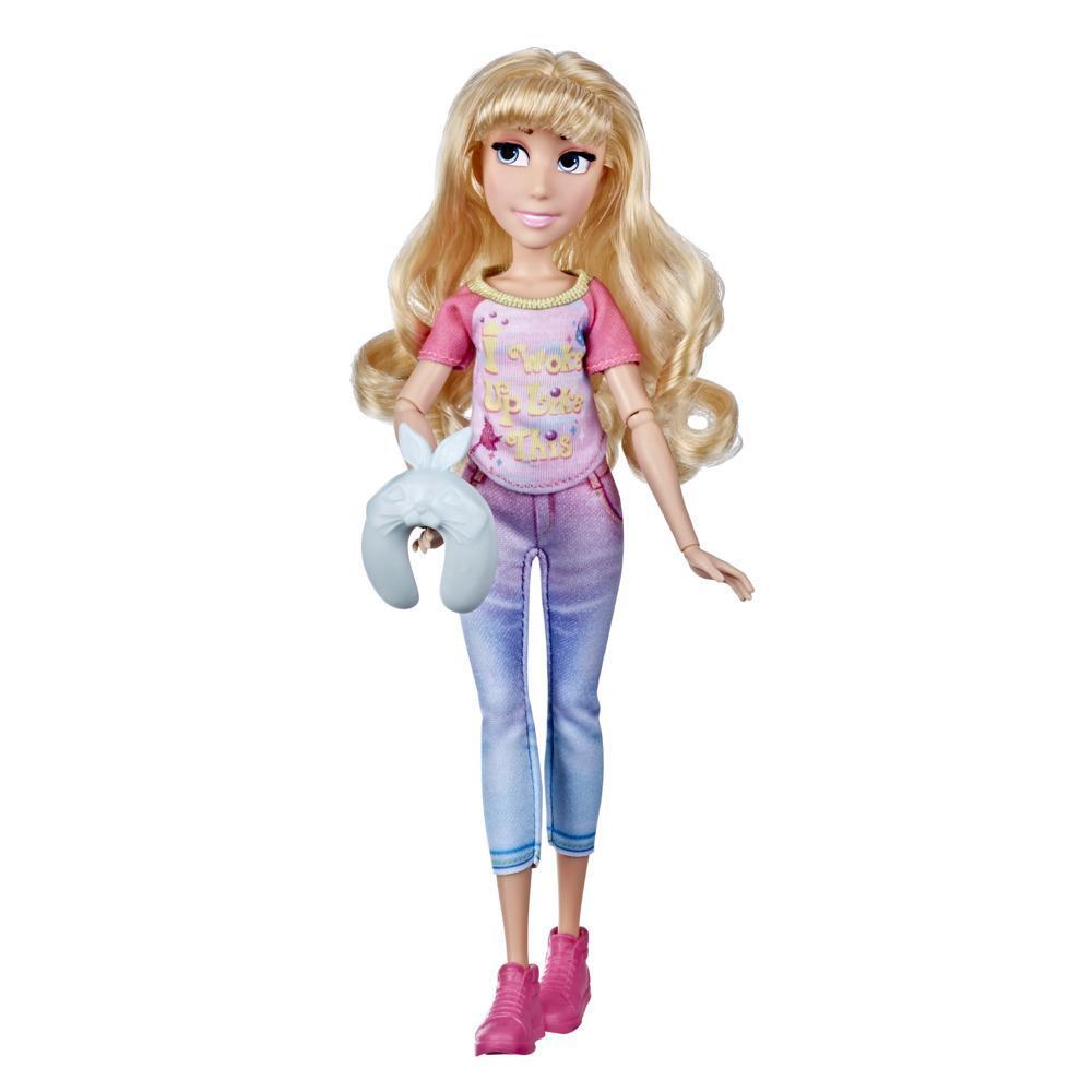 Disney Princesses Comfy Squad, poupée mannequin Aurore en tenue décontractée inspirée du film Ralph brise l'Internet