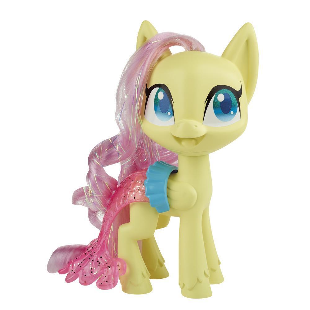 My Little Pony, figurine Fluttershy Potion de style, poney jaune de 12,5 cm avec accessoires mode, crinière peignable