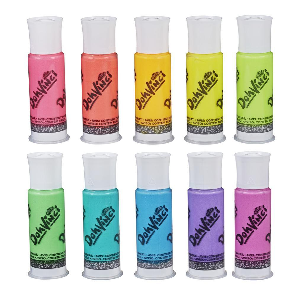 DohVinci par la marque Play-Doh - Ensemble de 10 couleurs néon, matériel d'artiste pour enfants et adolescents