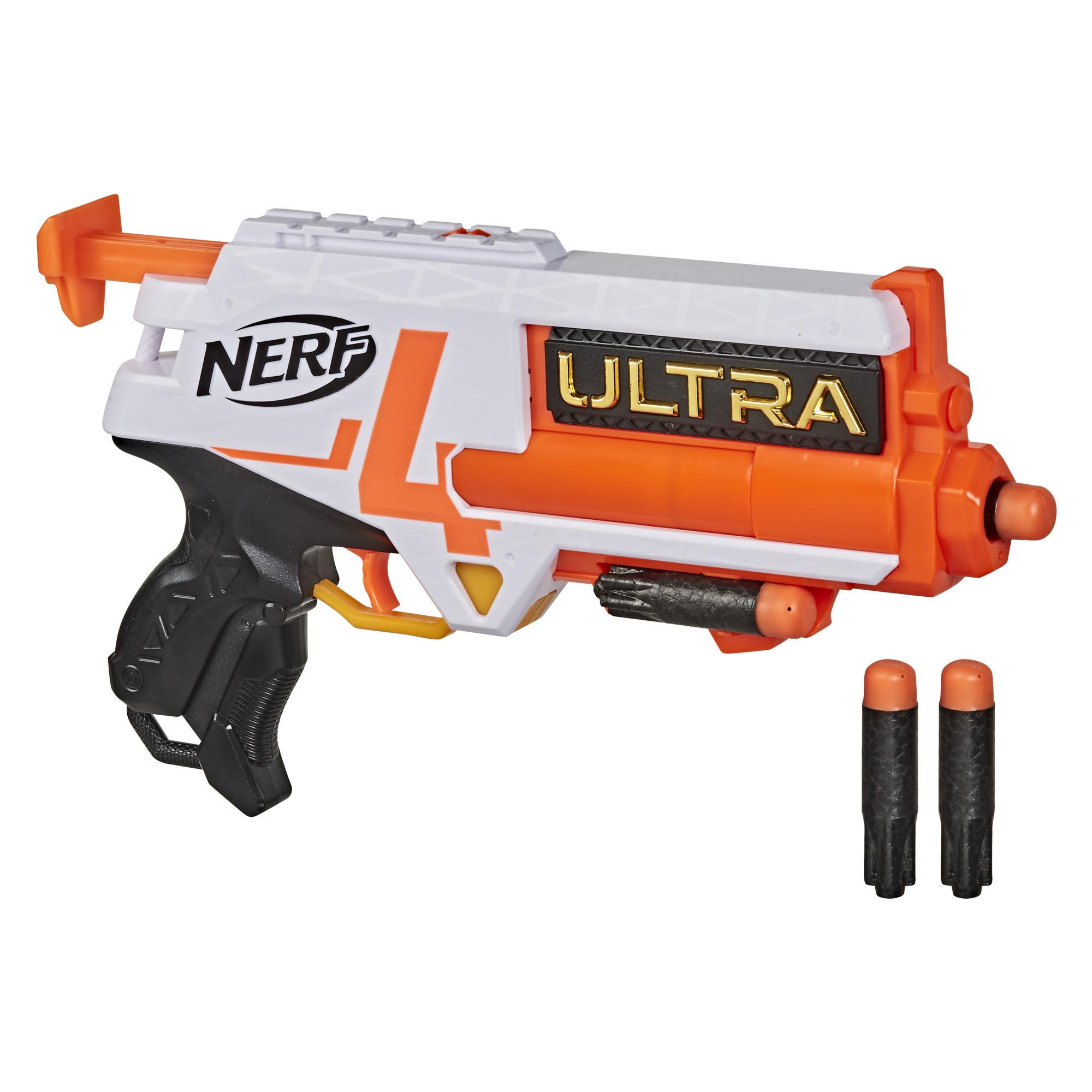 Nerf Ultra - Blaster Four, avec 4 fléchettes Nerf Ultra, compatible uniquement avec les fléchettes Nerf Ultra