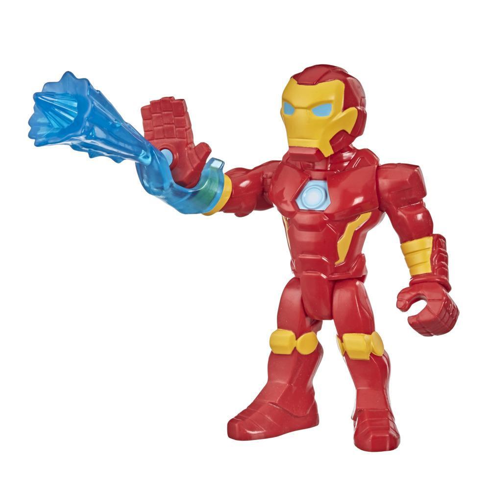 Playskool Heroes Marvel Super Hero Adventures Mega Mighties, figurine Iron Man de 12,5 cm avec répulseur