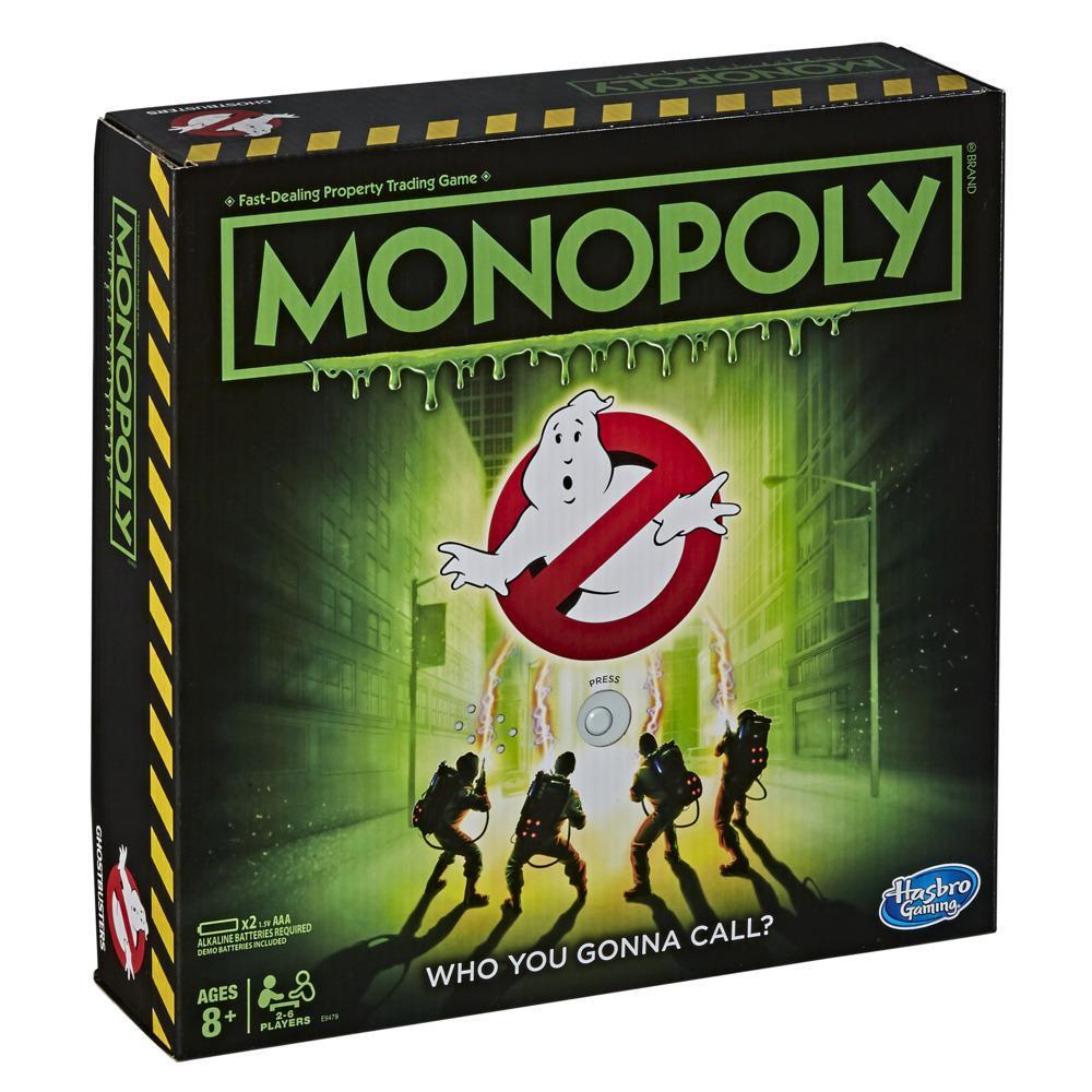 Monopoly: édition Ghostbusters S.O.S Fantômes pour enfants, dès 8ans