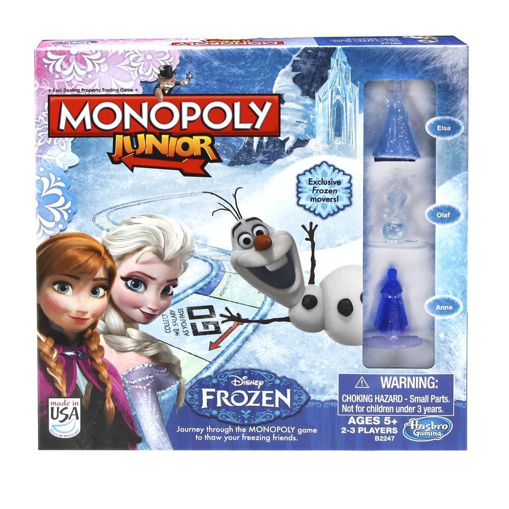 jeu monopoly junior dition la reine des neiges