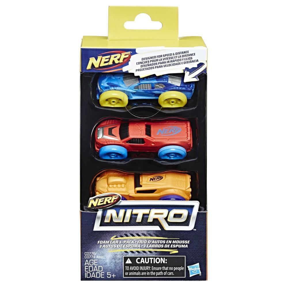 Nerf Nitro - Trio d'autos en mousse (Ensemble 2)
