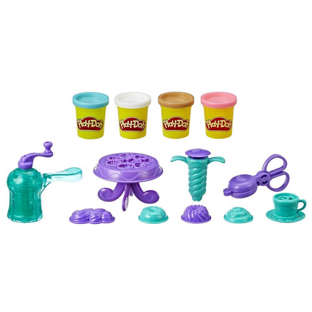 Play-Doh Kitchen Creations - Ensemble Bons beignets avec 4 couleurs de pâte