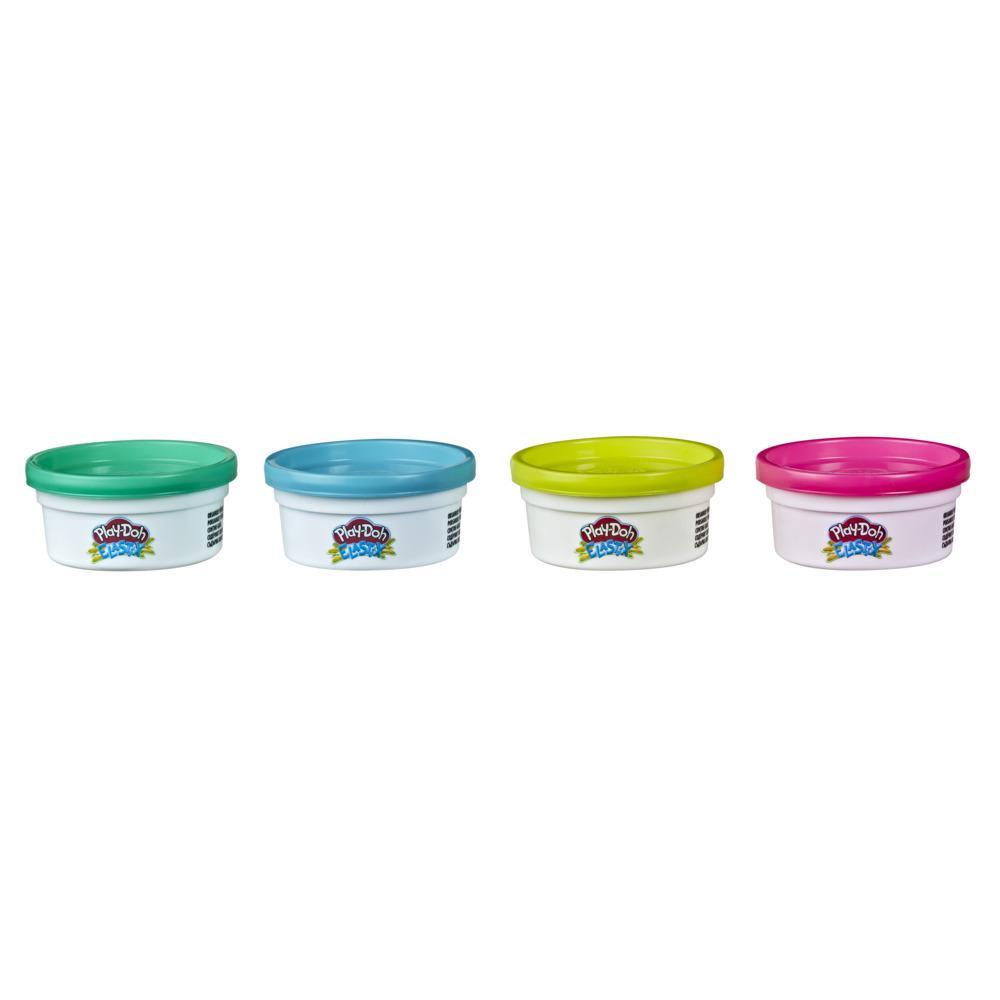 Play-Doh Elastix, assortiment de 4pots de pâte