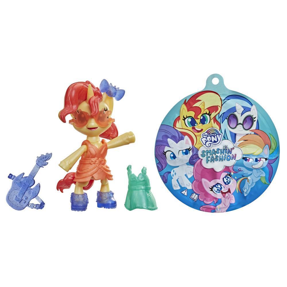 My Little Pony Smashin' Fashion, figurine articulée Sunset Shimmer avec accessoires mode et jouet surprise