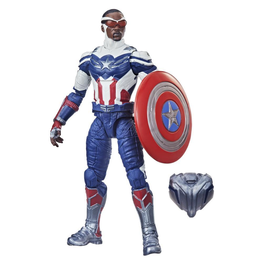 Hasbro Marvel Legends Series Avengers, figurine Captain America de 15cm et 4accessoires, pour enfants, dès 4 ans