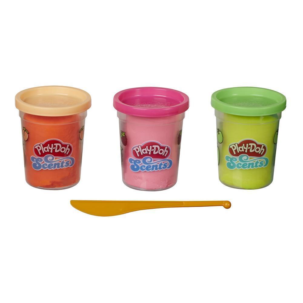 Play-Doh Scents, 3 pots de pâte à modeler, parfums fruités