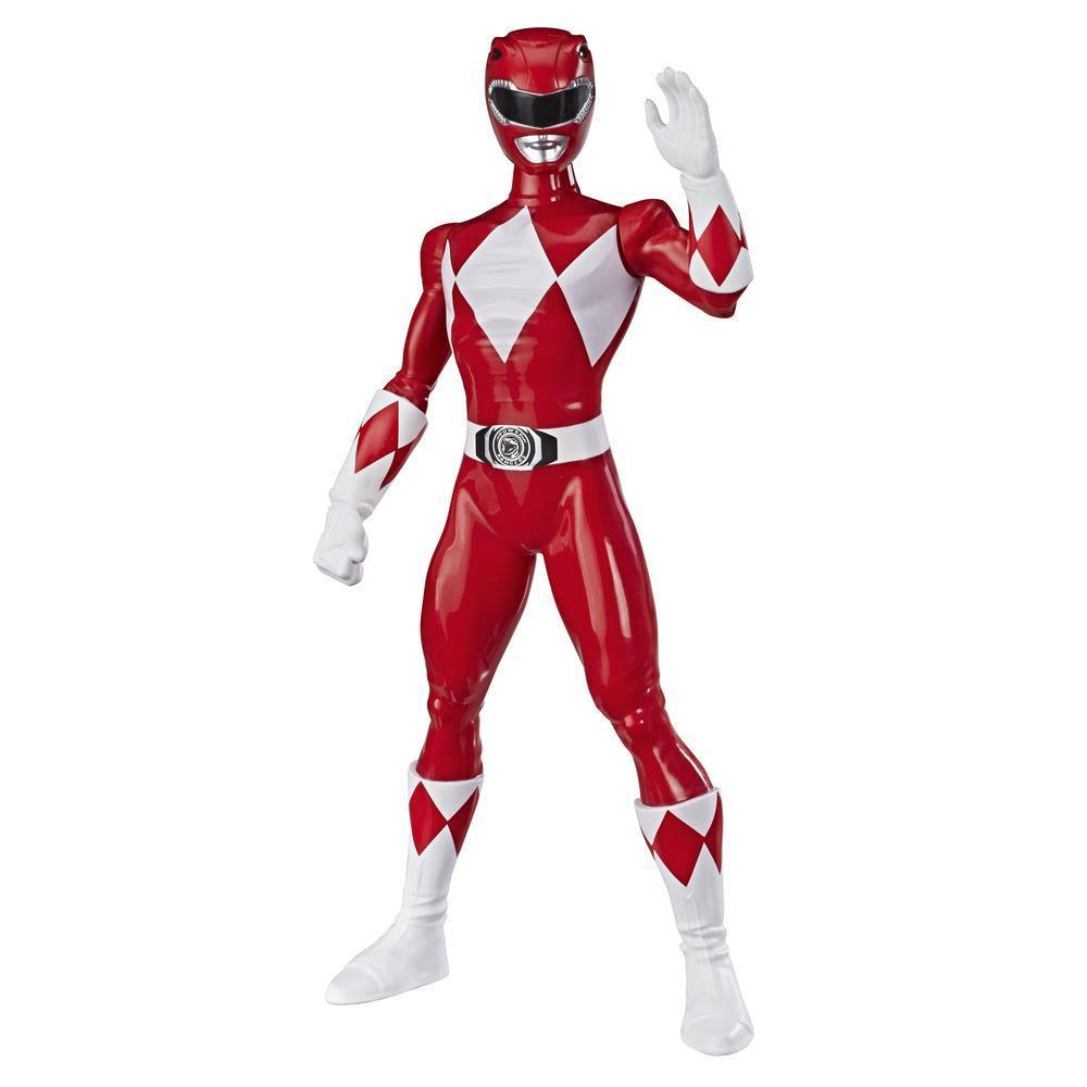 Power Rangers Mighty Morphin, Figurine Ranger rouge de 24 cm, pour enfants à partir de 4 ans