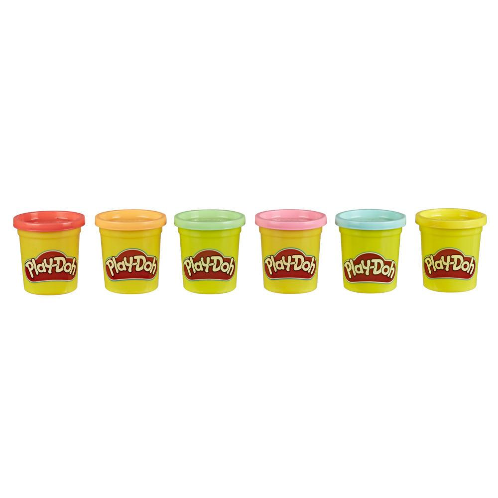 Play-Doh, pâte à modeler à partager, 6 pots de 84g pour la maison et pour l'école, couleurs assorties, pâte atoxique