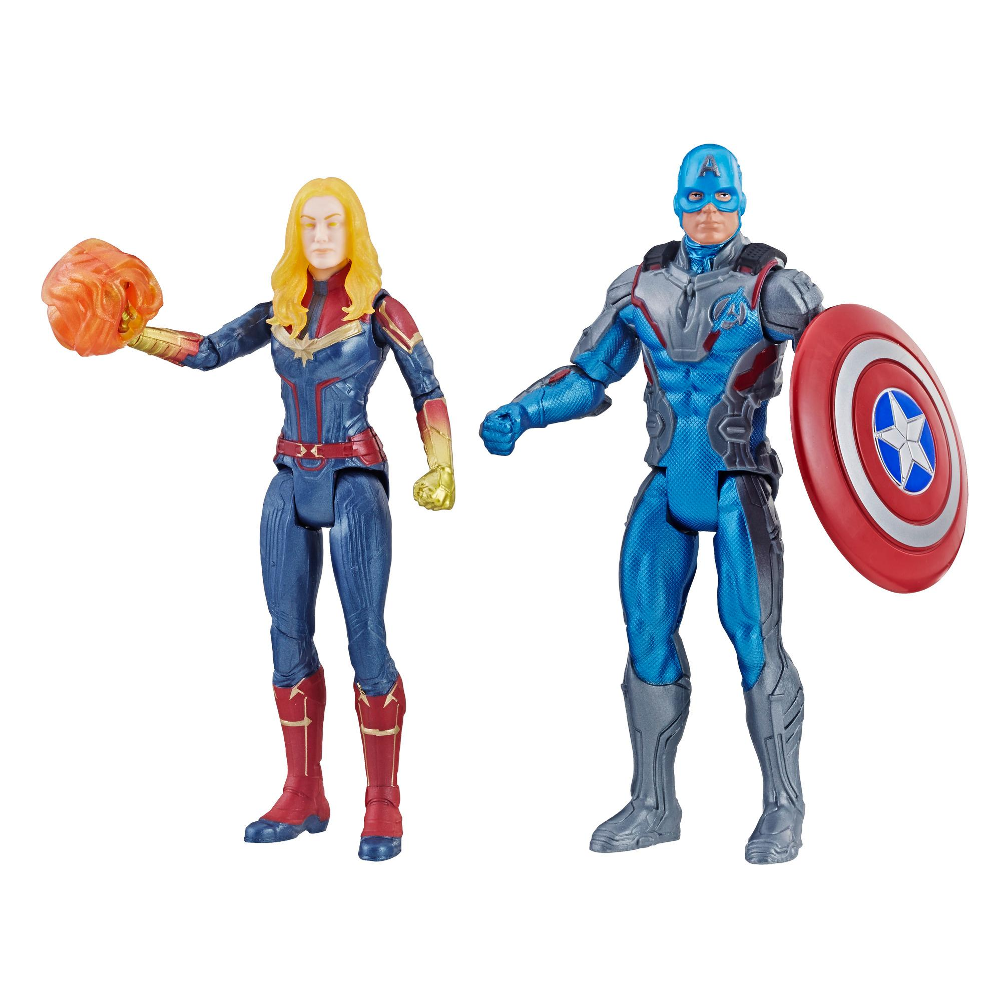 Marvel Avengers : Phase finale Duo de personnages Capitaine America et Capitaine Marvel