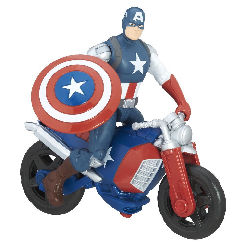 Marvel Avengers - Véhicule et figurine Captain America de 15 cm