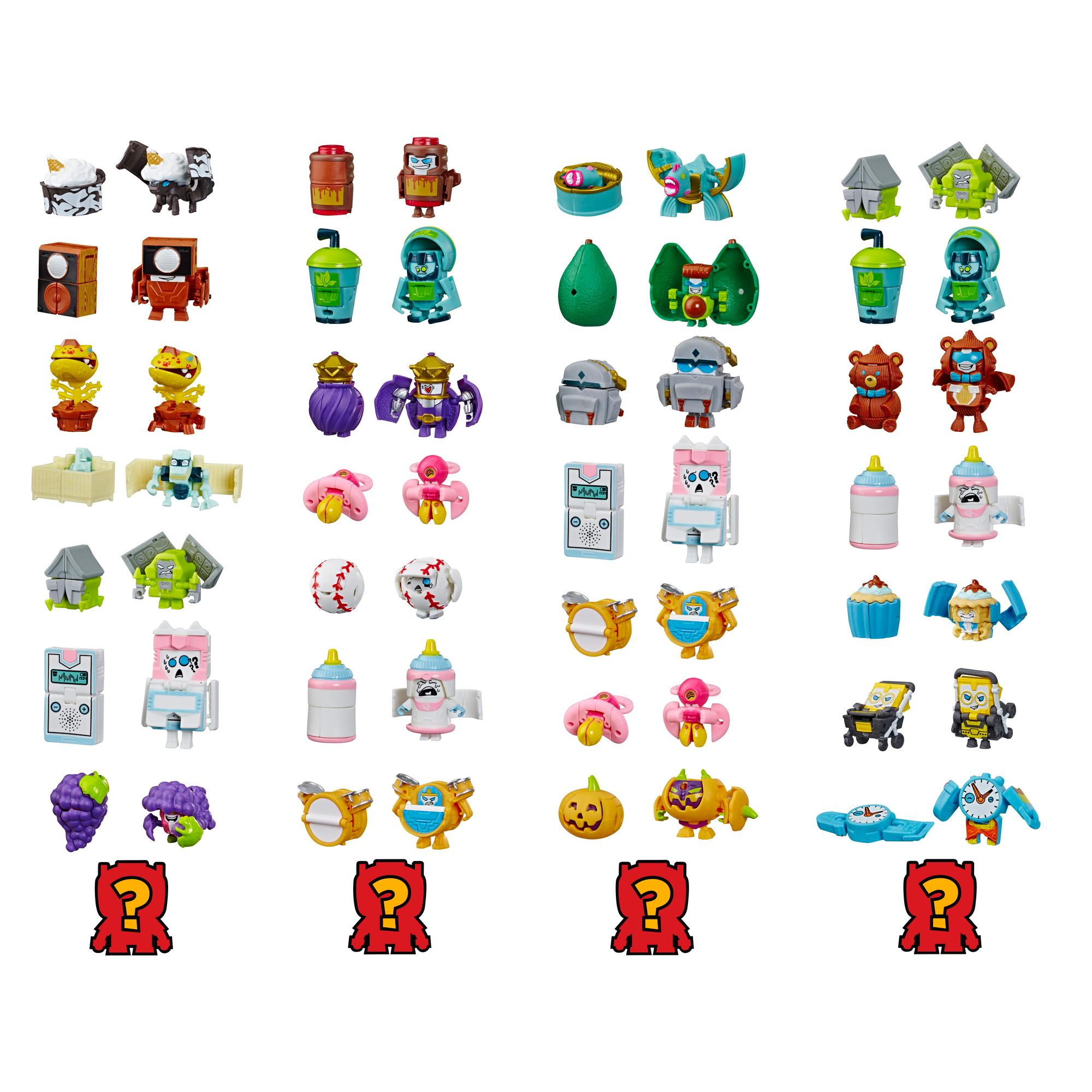 Jouet Transformers BotBots série 3 Ensemble de 8 des Robots-berceau - Figurines mystères 2 en 1 à collectionner! Enfants à partir de 5 ans